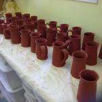 Non fired glaze handmade pottery mugs