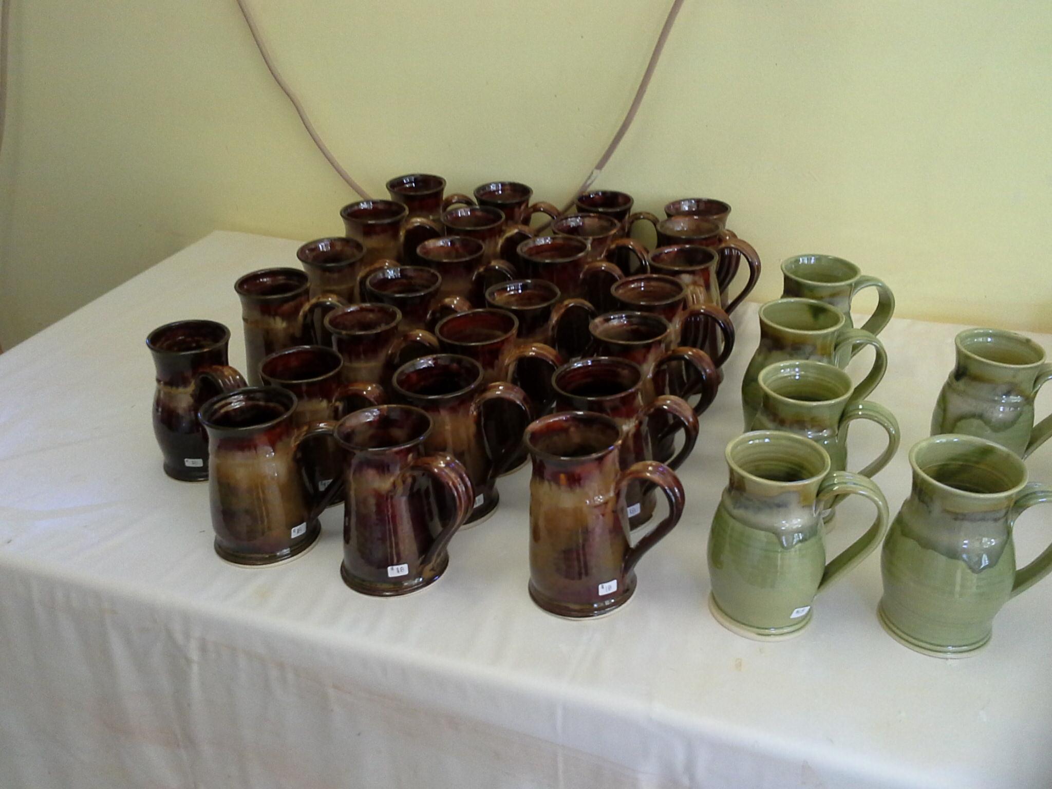 handmade pottery mugs