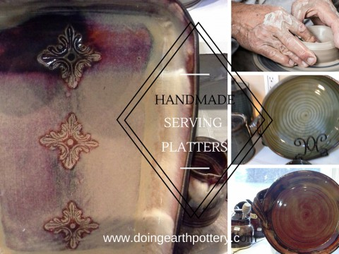 Handmade Serving Platters from Doing Earth Pottery