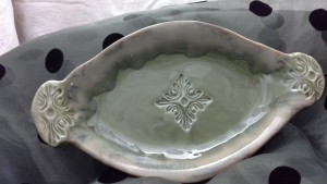 Handmade Embossed Serving Trays From Doing Earth Pottery