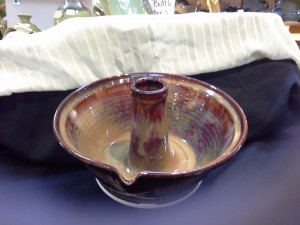 Handcrafted Sunset Brown Chicken Roaster by Doing Earth Pottery