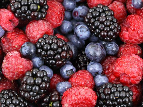 Fresh Berries and Hand Made Berry Colanders