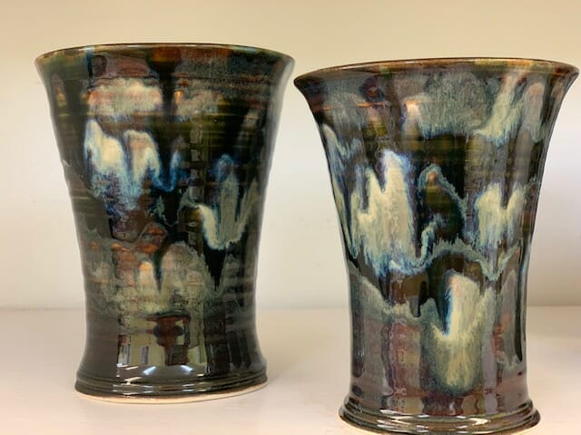 New Black cups by Doing Earth Pottery