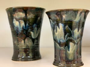New Black cups Doing Earth Pottery