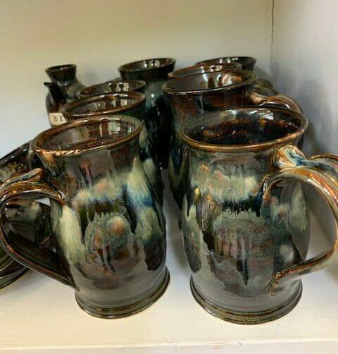 Doing Earth Pottery Blueblack mugs